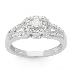 White Gold 1/2ct TDW Diamond Bridal Ring - Custom Made By Yaffie™