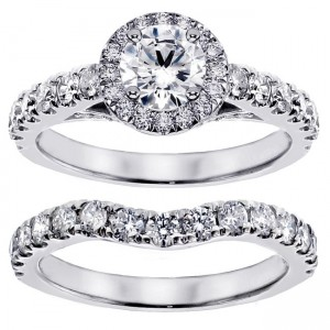 14k/ Gold 3ct TDW Round Diamond Bridal Ring Set - Custom Made By Yaffie™