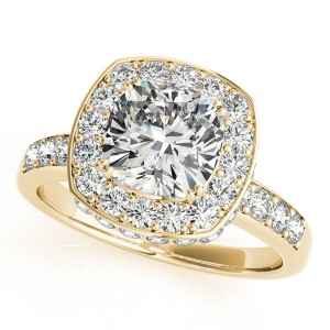 Gold 1.34ct TDW Vintage Round Solitaire Engagement Ring - Custom Made By Yaffie™