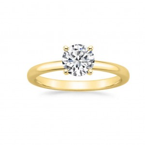Gold 7/8ct TDW GIA Certified Round-cut Diamond Engagement Ring - Custom Made By Yaffie™