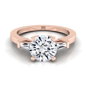 Rose Gold 3/4ct TDW White Diamond Engagement Ring - Custom Made By Yaffie™