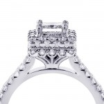 White Gold 2 4/5ct TDW Princess-cut Diamond Square Halo Bridal Ring Set - Custom Made By Yaffie™