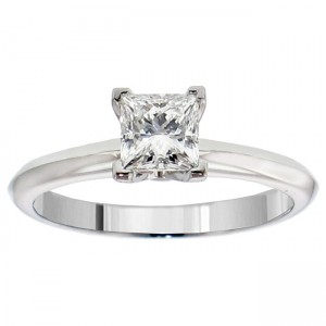 or White Gold or Platinum 3/5ct TDW GIA Certified Diamond Solitaire Engagement Ring - Custom Made By Yaffie™