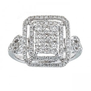 Anika and August White Gold 1 1/5ct TDW Diamond Ring - Custom Made By Yaffie™