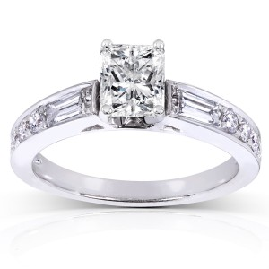 White Gold 1 1/2ct TDW Radiant Diamond Engagement Ring - Custom Made By Yaffie™
