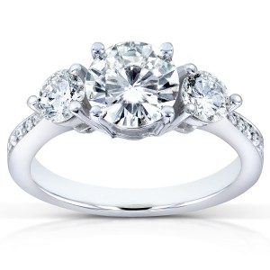 White Gold Certified 1 3/5ct TDW Diamond Eco-Friendly Lab Grown Diamond Three - Custom Made By Yaffie™