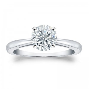 GIA Certified Platinum 4-Prong 2 ct. TDW Round-Cut Diamond Solitaire Engagement - Custom Made By Yaffie™