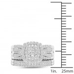 White Gold 1ct TDW Diamond Bridal Set Ring - Custom Made By Yaffie™