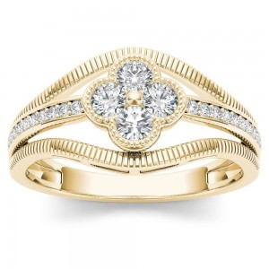Gold 1/3ct TDW Diamond Fashion Ring - Custom Made By Yaffie™