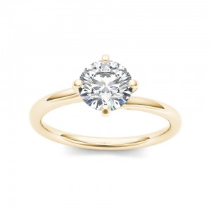 Gold 1ct TDW Diamond Solitaire Ring - Custom Made By Yaffie™