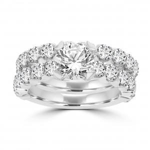 La Vita Vital White Gold Diamond 3 2/5ct TDW Bridal Set - Custom Made By Yaffie™