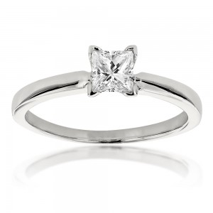 White Gold 2/5ct TDW Solitaire Diamond Ring - Custom Made By Yaffie™
