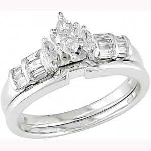 White Gold 1/2ct TDW Diamond Bridal Set - Custom Made By Yaffie™