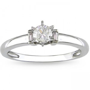 White Gold 1/3ct TDW Diamond Solitaire Engagement Ring - Custom Made By Yaffie™