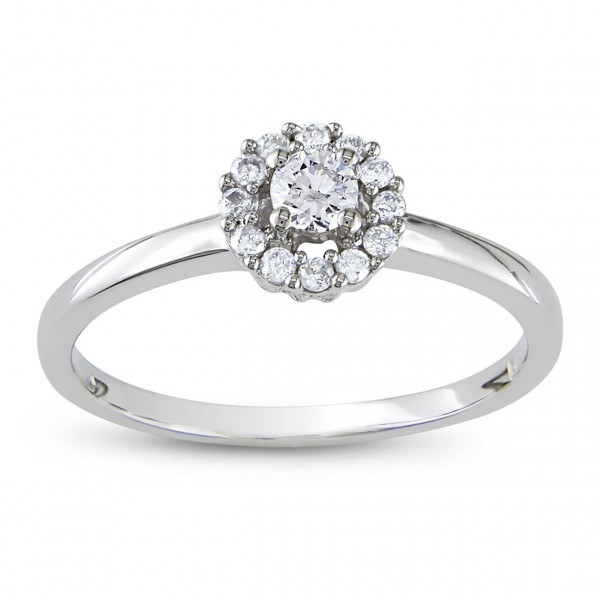 Signature Collection White Gold 1/4ct TDW Diamond Engagement Ring - Custom Made By Yaffie™