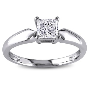 Signature Collection Gold 3/4ct TDW Solitaire Diamond Ring - Custom Made By Yaffie™