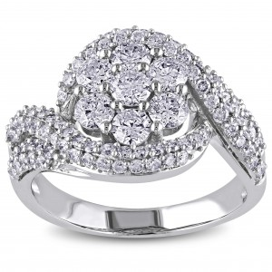 Signature Collection White Gold 2ct TDW Diamond Engagement Ring - Custom Made By Yaffie™