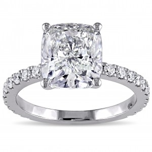 Signature Collection 19k White Gold 4ct TDW Certified Diamond Ring - Custom Made By Yaffie™