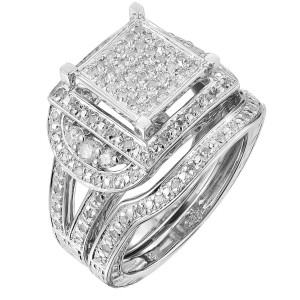 Sterling Silver 1/2ct TDW Diamond Anniversary Ring Set - Custom Made By Yaffie™