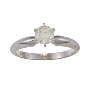 White Gold 5/8ct TDW Diamond Solitaire Engagement Ring - Custom Made By Yaffie™