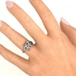 Personalised Siobhán Celtic Knot Ring - Custom Made By Yaffie™