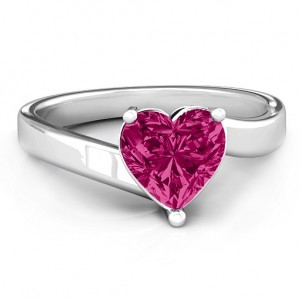 Personalised Passion Large Heart Solitaire Ring - Custom Made By Yaffie™