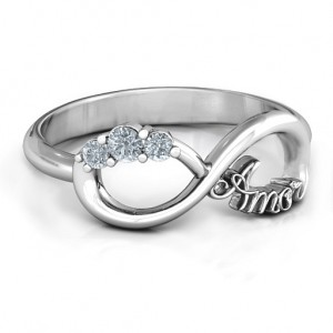 Personalised Amor Infinity Ring - Custom Made By Yaffie™