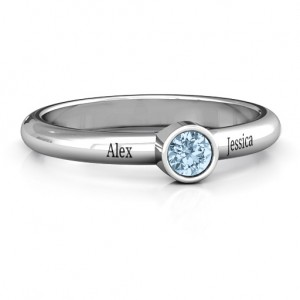 Personalised Bezel Set Solitaire Ring - Custom Made By Yaffie™