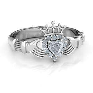 Personalised Claddagh with Halo Ring - Custom Made By Yaffie™