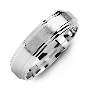 Personalised Classic TwoLine MilledBrush Men's Ring - Custom Made By Yaffie™