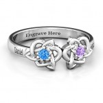 Personalised Double Celtic Gemstone Ring - Custom Made By Yaffie™