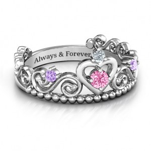 Personalised Happily Ever After Tiara Ring - Custom Made By Yaffie™