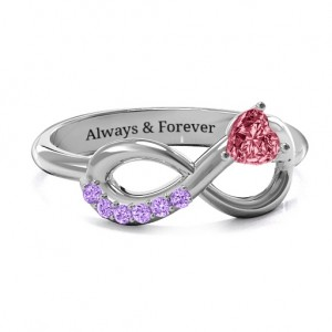 Personalised Infinity In Love Ring with Accents - Custom Made By Yaffie™