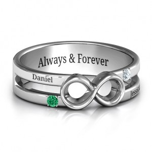 Personalised Men's Accented Infinity Ring - Custom Made By Yaffie™