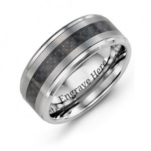 Personalised Men's Trinity Tungsten Ring - Custom Made By Yaffie™