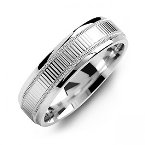 Personalised Ridged Men's Ring with Milgrain Edges - Custom Made By Yaffie™