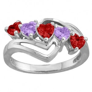 Personalised Starburst Heart Ring - Custom Made By Yaffie™