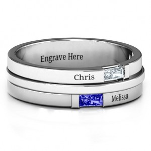 Personalised Baguette Men's Ring - Custom Made By Yaffie™