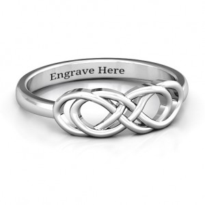 Personalised Infinity Knot Ring - Custom Made By Yaffie™