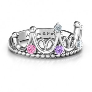 Personalised Like A Dream Tiara Ring - Custom Made By Yaffie™