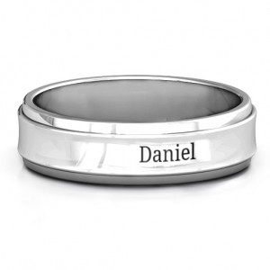 Personalised Menelaus Bevelled Concave Men's Ring - Custom Made By Yaffie™