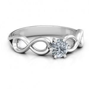 Personalised Solitaire Infinity Ring - Custom Made By Yaffie™
