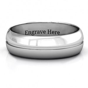 Personalised Titus Grooved Men's Ring - Custom Made By Yaffie™