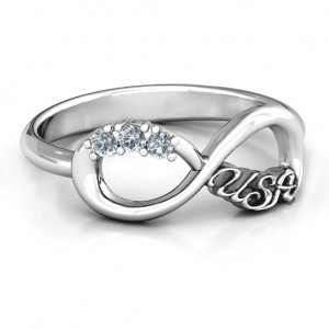 Personalised USA Infinity Ring - Custom Made By Yaffie™