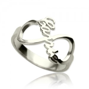 Personalised Infinity Nameplate Ring - Custom Made By Yaffie™