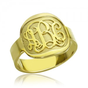 Personalised Engraved Designs Monogram Ring - Custom Made By Yaffie™
