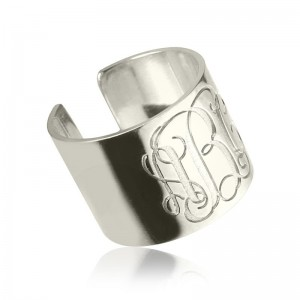 Personalised Monogram Cuff Ring - Custom Made By Yaffie™