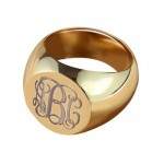 Personalised CIrcle Designs Signet Monogram Initial Ring - Custom Made By Yaffie™