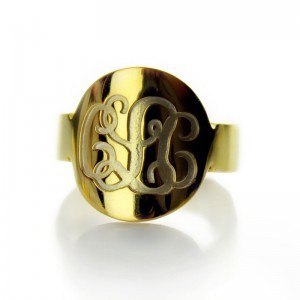 Personalised Engraved Script Monogram Itnitial Ring - Custom Made By Yaffie™
