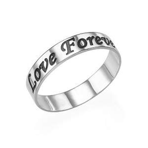 Personalised Script Promise Ring - Custom Made By Yaffie™